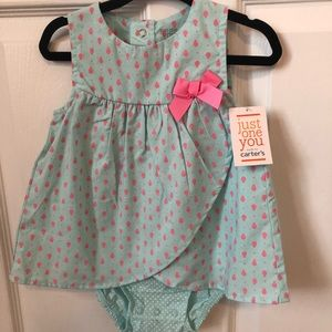 Carter's Just One You blue and pink infant dress